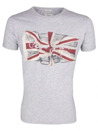 T-Shirt Pepe Jeans Flag Logo Grey