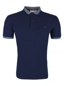 Koszulka Polo Lacoste Silicone Crocodile Stretch Navy Blue