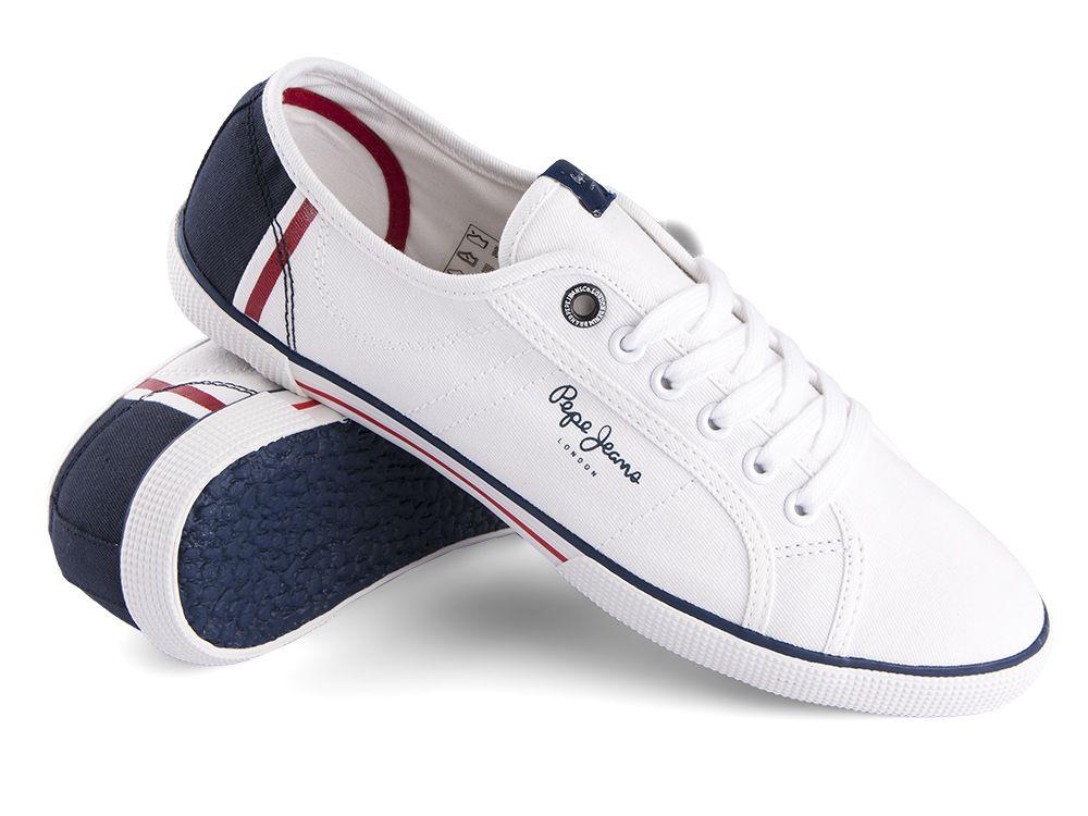 8768137b7 Trampki Pepe Jeans Aberman Print White - sklep Visciola Fashion