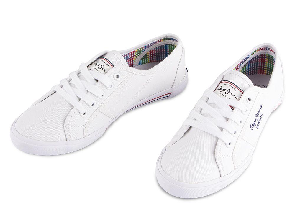 63f04d785 Trampki Pepe Jeans Aberlady Basic White Trampki Pepe Jeans Aberlady Basic  White ...
