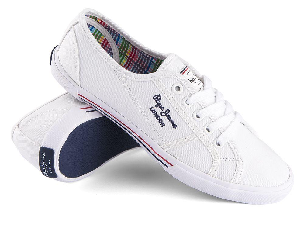 efb2539ee Trampki Pepe Jeans Aberlady Basic White - sklep Visciola Fashion