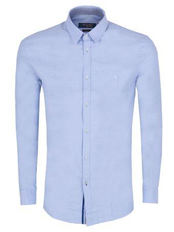 Męska koszula w stroju półformalnym