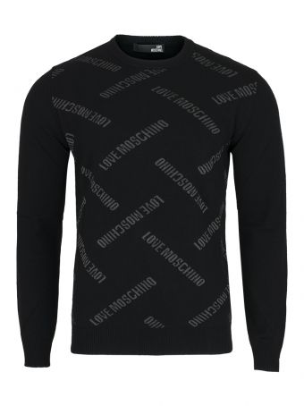 Sweter męski czarny Love Moschino