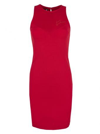Sukienka czerwona Love Moschino