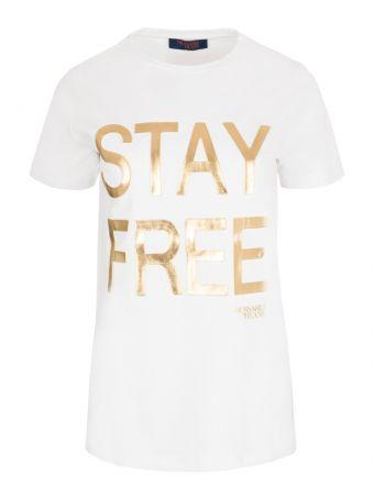 T-shirt z nadrukiem Trussardi Jeans