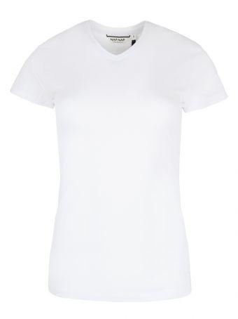 Biały gładki t-shirt Naf Naf