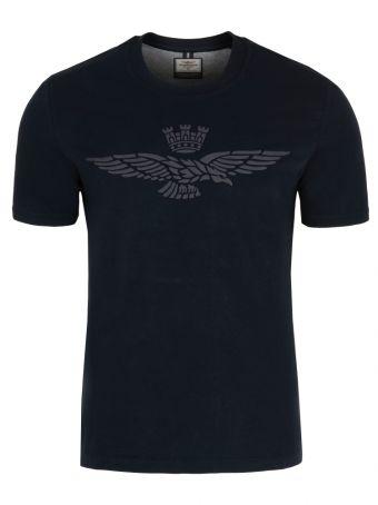 T- shirt Aeronautica Militare z napisem z przodu