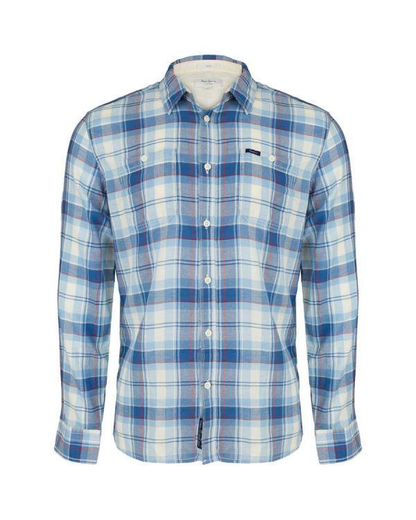 46a7ff766850c3 Koszula Pepe Jeans Ironshell Sky Blue - sklep Visciola Fashion